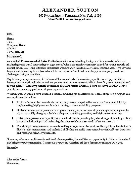 Sales Cover Letter Examples Resume Downloads for Sales Cover ...