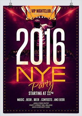 Free New Year Eve Party Flyer #3 - HollyMolly!