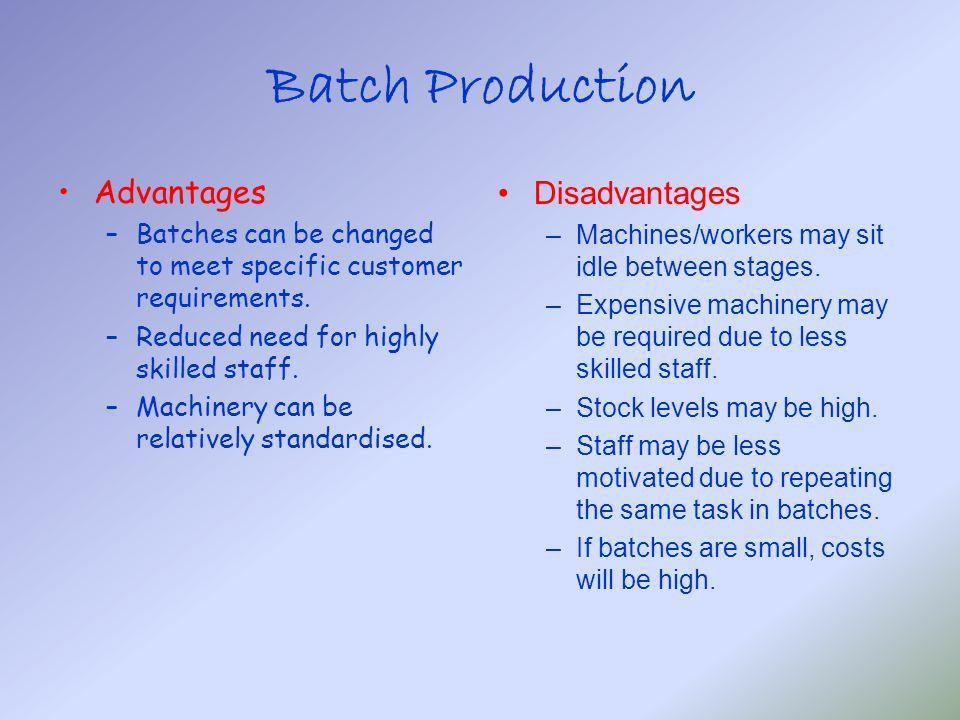 Methods of Production Intermediate II and Higher Business ...