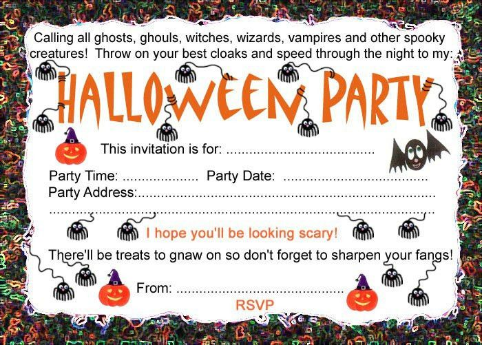 10 Best Images of Halloween Birthday Party Invitation Templates ...