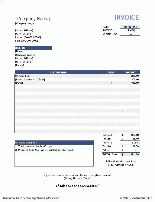 Payroll Invoice Template - Best Resume Collection