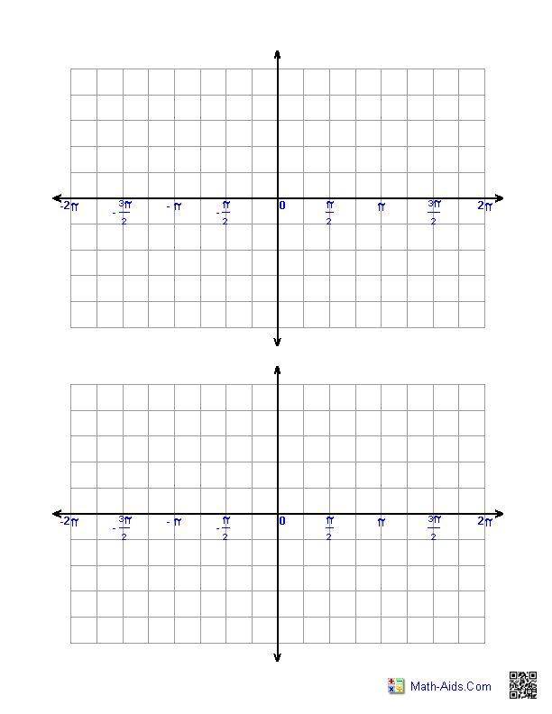 Trigonometric Graph Paper Minus 2 Pi to Plus 2 Pi | Math-Aids.Com ...