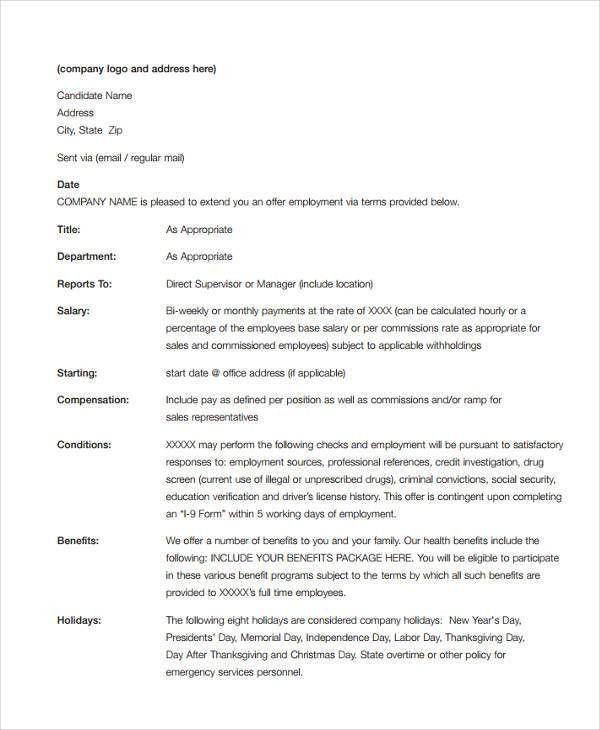 40+ Offer Letter Templates in PDF   Free & Premium Templates