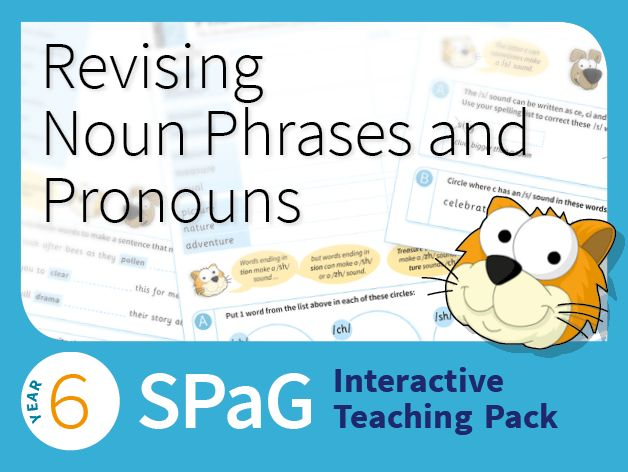 Year 6 SPaG Interactive Teaching Pack - Revising noun phrases and ...