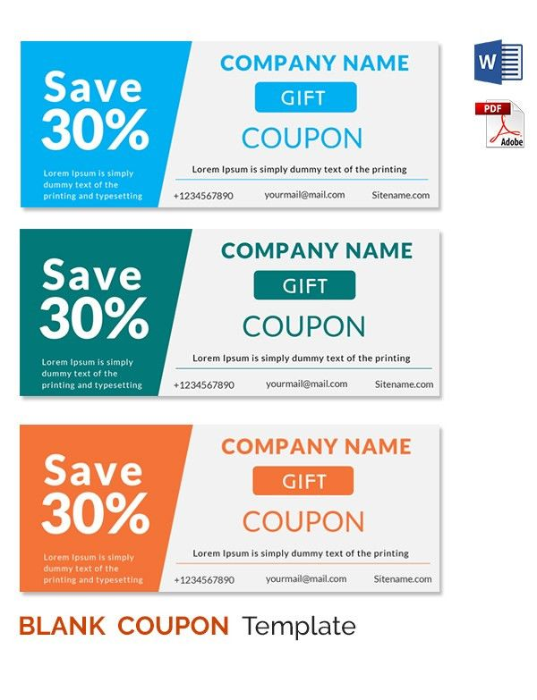 Coupon Design Templates Word Excel PDF Templates ...