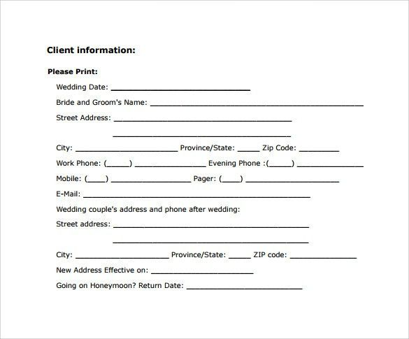 Wedding Photography Contract Template - 12+ Download Free ...