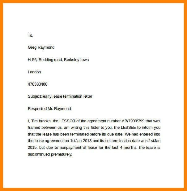 lease termination letter | art resumes