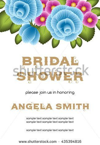 Bridal Shower Invitation Template Flowers Illustration Stock ...