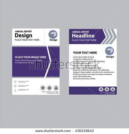 Annual Report Cover Design Report Template Stock Vector 430219651 ...
