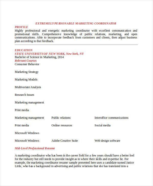 23+ Marketing Resume Templates | Free & Premium Templates
