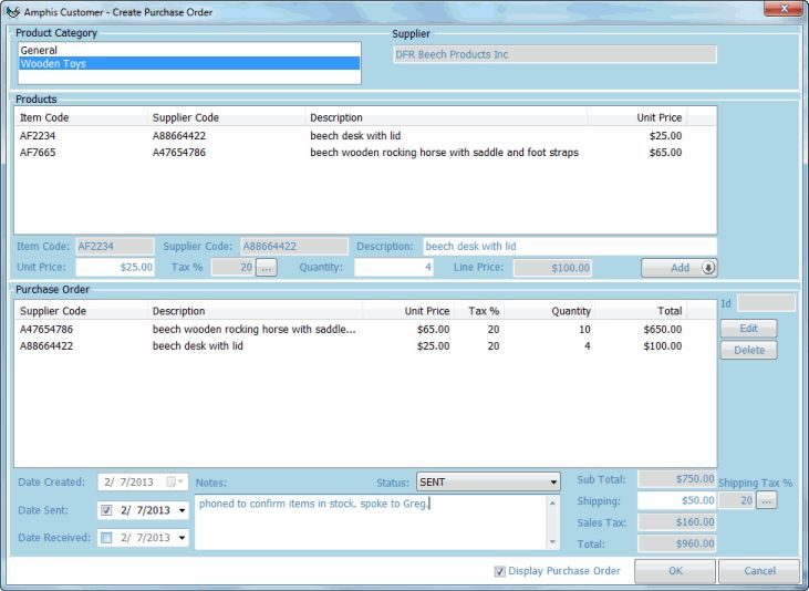 Purchase Order Software - Purchase Orders | Amphis Software