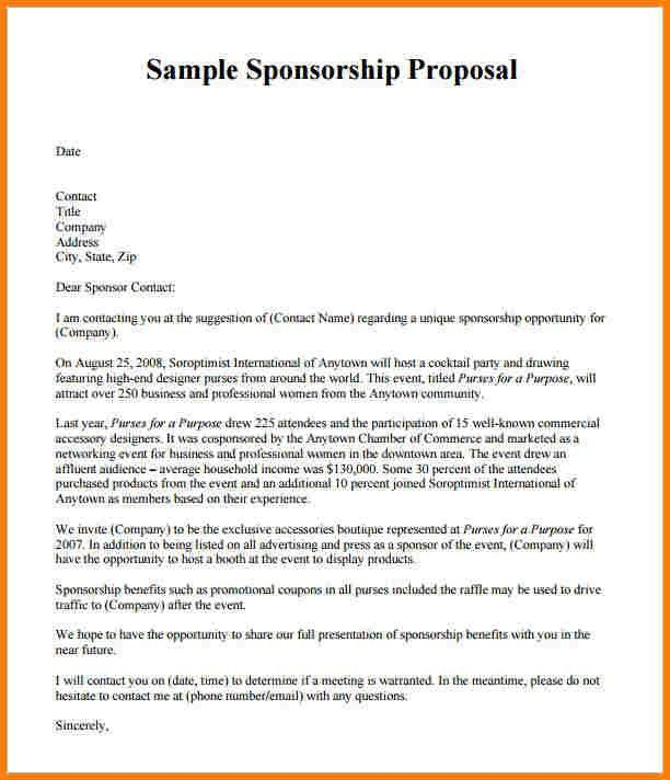 8+ example of sponsorship proposal | Proposal Template 2017