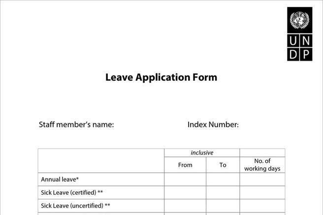 Application for Leave | Download Free & Premium Templates, Forms ...