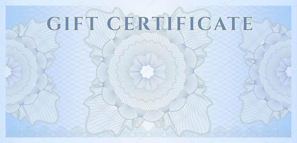 Gift certificate, Voucher, Coupon template (layout) with guilloche ...