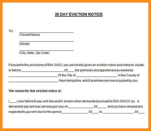 Eviction Letter Sample Sample Eviction Notice Template 37 Free – Sample Intent to Vacate Letter