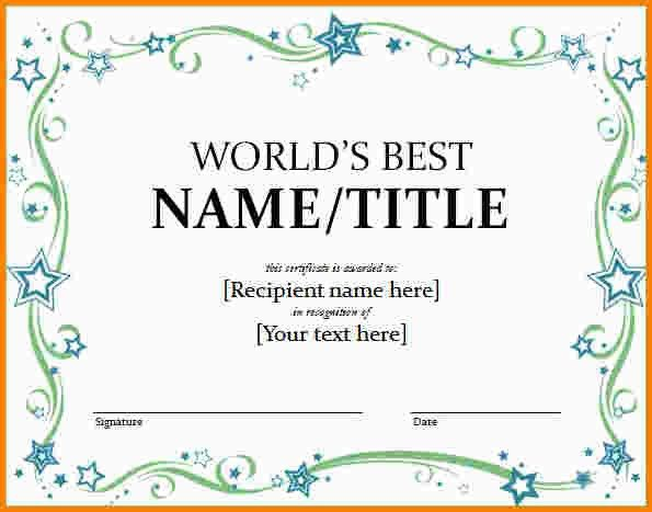 10+ award templates word | nypd resume