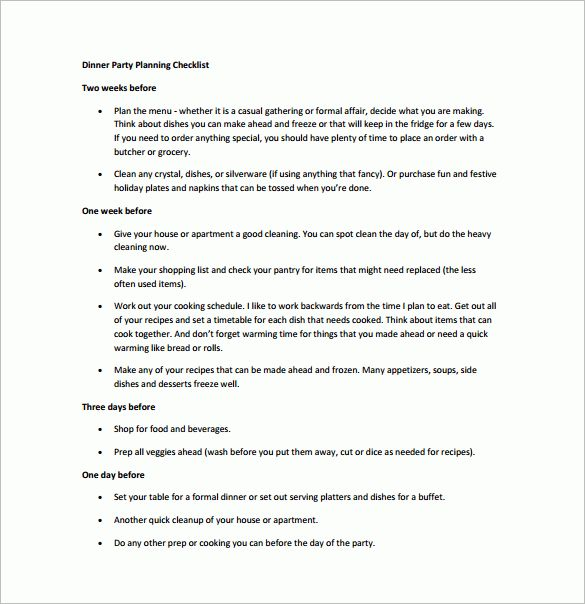 Party Planning Templates - 16 Free Word, PDF Documents Download ...