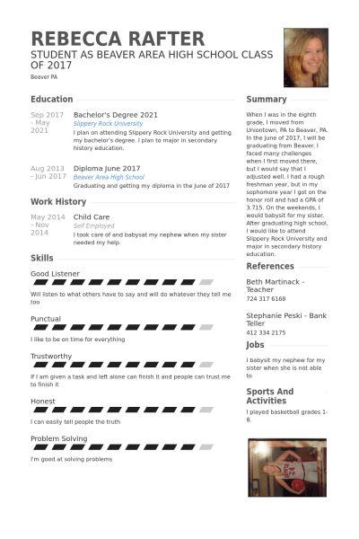 Child Care Resume samples - VisualCV resume samples database