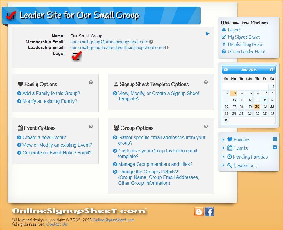 5+ online signup sheet | Outline Templates