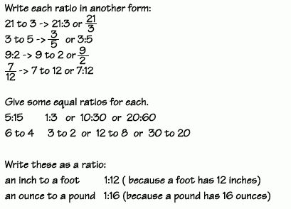 Ratios and Proportions - Ratios - Examples