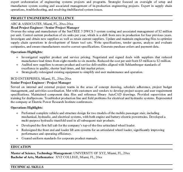 Project Engineer Resume. reliability engineer sample resume 17 ...