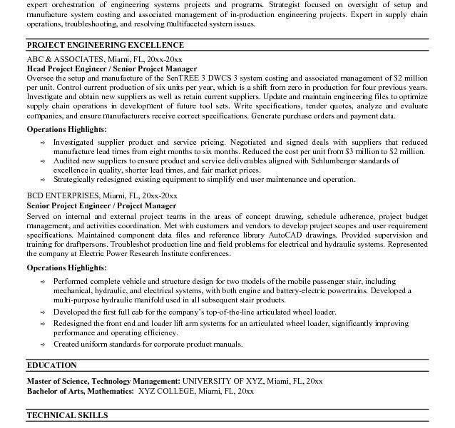 project engineer resumes engineer resume project engineer resume