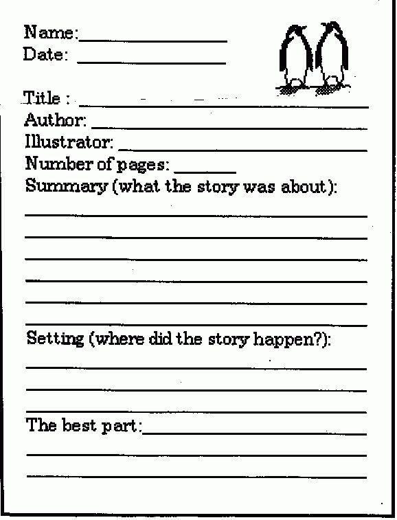 8+ Book Report Template 3rd Grade | Printable Receipt