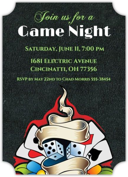 Game Night Invitation & Game Night Invitations