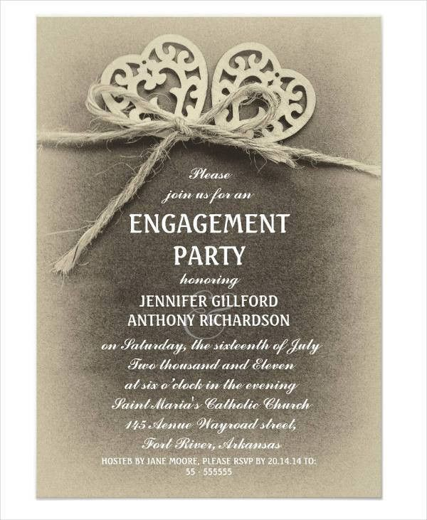 40+ Printable Engagement Invitations Templates | Free & Premium ...