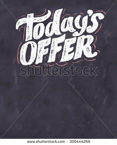 Todays Special Menu Chalkboard Menu Template Stock Vector ...
