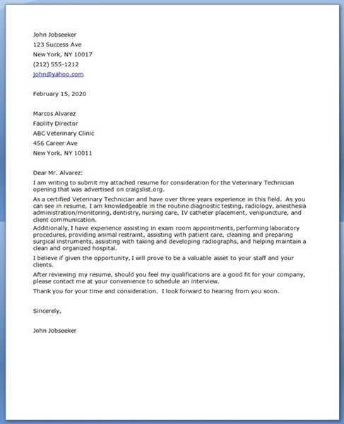 Cover letter for lab technician assistant Custom paper Academic ...