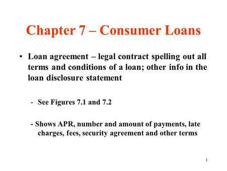 CHAPTER 7: USING CONSUMER LOANS - ppt download