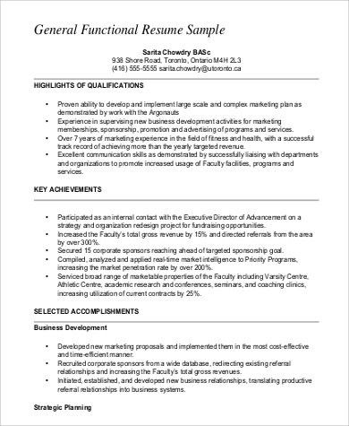 functional resume format. functional resume style template ...