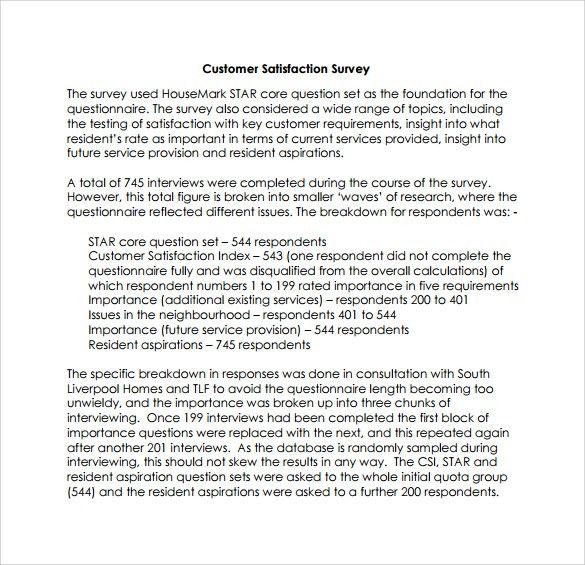 Customer Survey Thank You Letter Sample | Docoments Ojazlink