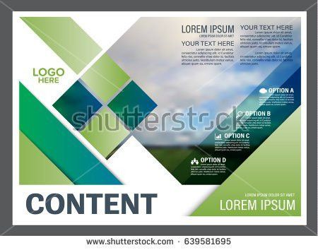Presentation Layout Design Template Annual Report Stock Vector ...