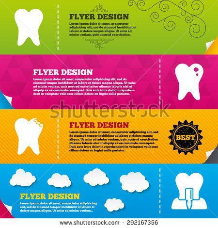 Flyer Brochure Designs Dental Care Icons Stock Vector 279647279 ...