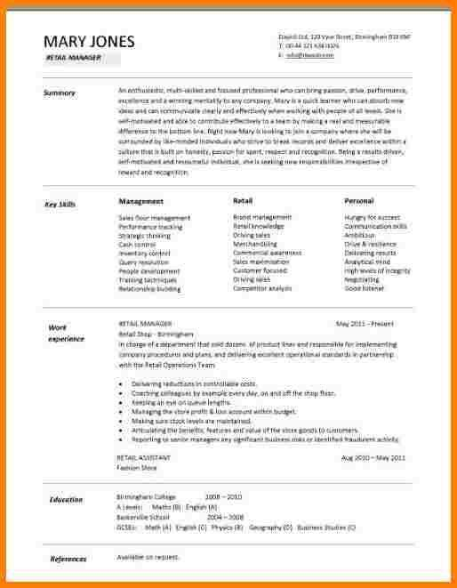 1 Page Resume Template. Get Refined And Get Noticed With This ...