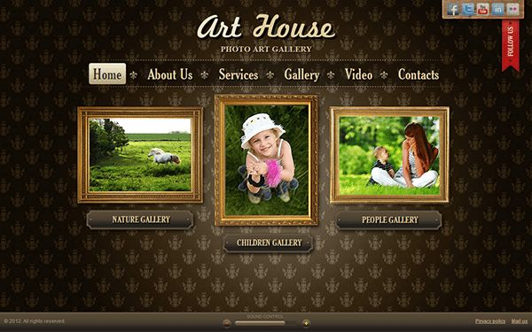 Art House Art Gallery HTML5 Template on Behance