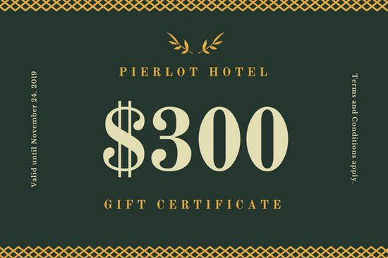 Luxury Hotel Gift Certificate - Templates by Canva