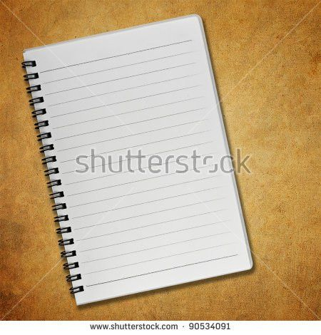 Blank Notebook On Old Paper Background Stock Photo 90534091 ...