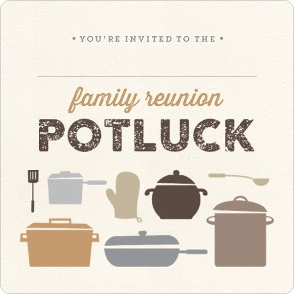Neutral Colored Potluck Fill in the Blank Family Reunion ...