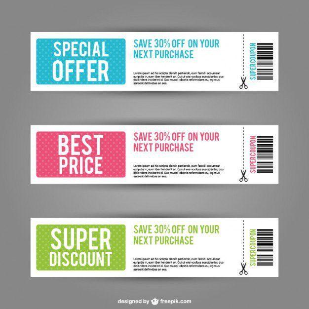 60+ Discount Coupon Templates Vectors | Download Free Vector Art ...