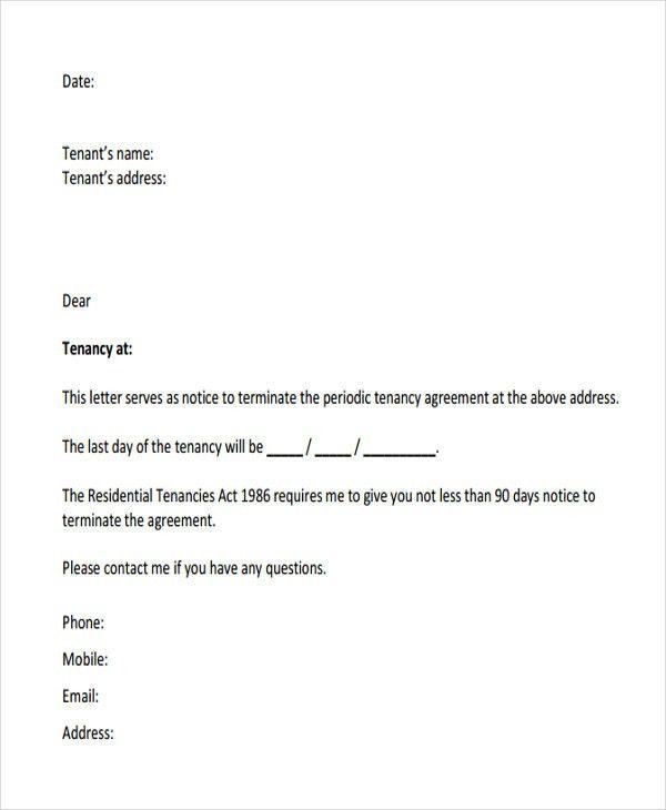 Termination Letter Format Templates | Free & Premium Templates