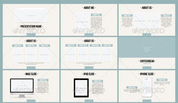 26 Minimal Presentation Templates – Design Freebies
