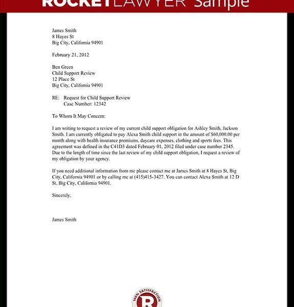 Child Support Review Letter – Request Review – With Sample ...