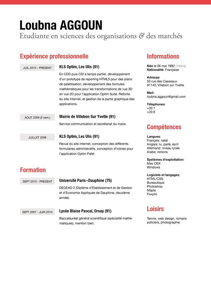 23 best CV designs images on Pinterest | Resume ideas, Cv design ...