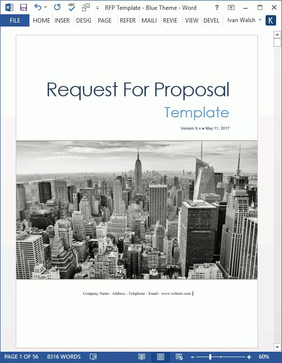 Request For Proposal (RFP) templates in MS Word and Excel. Instant ...