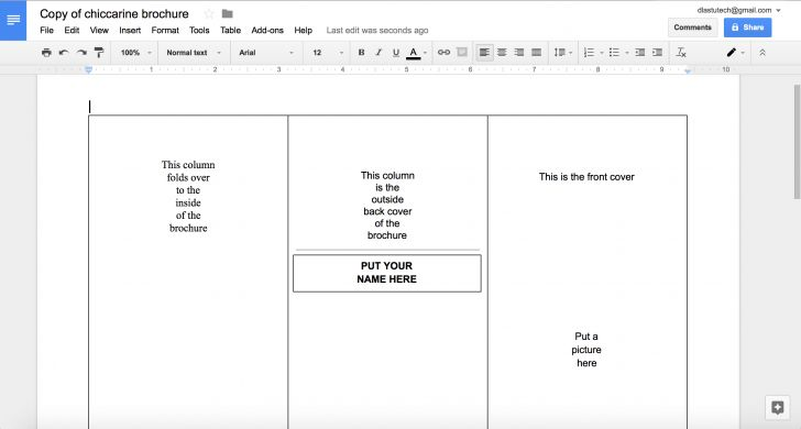New Google Doc Brochure Template | software-game.us