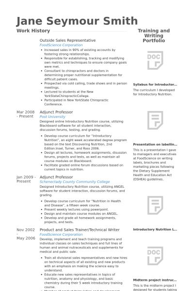 Outside Sales Resume samples - VisualCV resume samples database