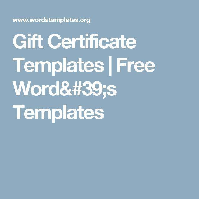 Gift Certificate Template Word 2003 64 | Jobs.billybullock.us